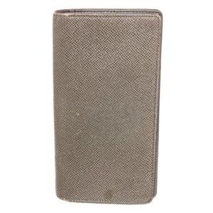 Louis Vuitton Grey Taiga Leather Long Card Wallet